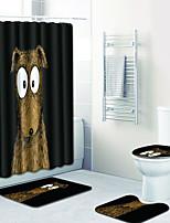 Недорогие -1 комплект Modern Коврики для ванны 100 г / м2 полиэфирный стреч-трикотаж Животное Прямоугольная Ванная комната Творчество