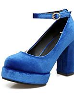 baratos -Mulheres Stiletto Camurça Outono Saltos Salto Robusto Verde / Azul / Vinho