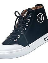 Недорогие -Жен. Комфортная обувь Хлопок Зима На каждый день Кеды На плоской подошве Черный / Хаки