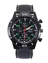 Недорогие -Муж. Спортивные часы Кварцевый Повседневные часы силиконовый Группа Аналоговый Мода Черный - Красный Зеленый Синий