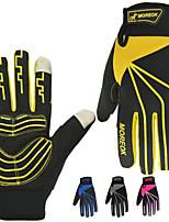 Недорогие -Спортивные перчатки Перчатки для велосипедистов / Перчатки для сенсорного экрана Водонепроницаемость / Дышащий / Сохраняет тепло Полный палец Кожа PU / сверхтонкие волокна