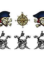 Недорогие -10 pcs Временные татуировки Защита от влаги / Высокое разрешение / Креатив Корпус / руки / рука Наклейка для переноса воды Временные тату