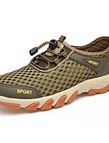 Недорогие -Муж. Комфортная обувь Сетка Лето На каждый день Кеды Дышащий Темно-синий / Коричневый / Хаки