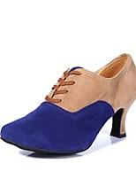 abordables -Femme Chaussures Latines Matière synthétique Talon Talon Cubain Personnalisables Chaussures de danse Rouge / Bleu