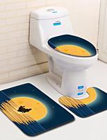 Недорогие -3 предмета Modern Коврики для ванны 100 г / м2 полиэфирный стреч-трикотаж Новинки нерегулярный / Прямоугольная Ванная комната Творчество