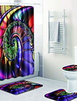 Недорогие -1 комплект Modern Коврики для ванны 100 г / м2 полиэфирный стреч-трикотаж Креатив нерегулярный / Прямоугольная Ванная комната Новый дизайн