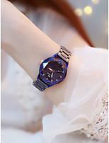 Недорогие -Жен. Наручные часы Кварцевый Компас Имитация Алмазный сплав Группа Аналоговый На каждый день Мода Фиолетовый / Темно-синий - Темно-синий Лиловый / Нержавеющая сталь
