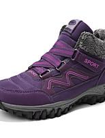 Недорогие -Жен. Комфортная обувь Замша Зима На каждый день Кеды На плоской подошве Круглый носок Черный / Лиловый / Вино
