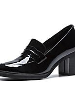 Недорогие -Жен. Балетки Микроволокно Лето Обувь на каблуках На толстом каблуке Черный / Телесный