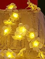 Недорогие -6м Гирлянды 40 светодиоды Тёплый белый Декоративная 220-240 V 1 комплект