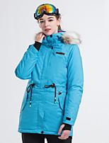 abordables -LanLaKa Femme Veste de Ski Pare-vent, Etanche, Garder au chaud Snowboard / Sports d'hiver Polyester Veste d'Hiver Tenue de Ski