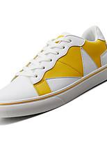 Недорогие -Муж. Комфортная обувь Полиуретан Осень На каждый день Кеды Нескользкий Контрастных цветов Черно-белый / Белый / синий / Белый / Желтый