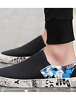 """Недорогие -Муж. Комфортная обувь Полотно Весна & осень На каждый день / Стиль """"Школьная форма"""" Мокасины и Свитер Черный / Красный / Черный / зеленый / Черный / синий"""