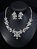 billiga -Dam Klassisk Smyckeset - Stilig, Europeisk, Elegant Omfatta Dropp Örhängen Halsband Vit Till Bröllop Dagligen