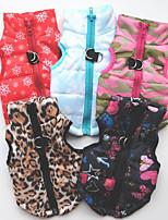 baratos -Cachorros / Gatos Colete Roupas para Cães Coração / Laço / Floco de Neve Preto / Vermelho Algodão Ocasiões Especiais Para animais de estimação Unisexo Casual / Fashion