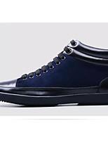 Недорогие -Муж. Комфортная обувь Кожа Наступила зима Кеды Черный / Синий