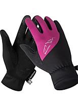 Недорогие -Спортивные перчатки Перчатки для велосипедистов / Перчатки для сенсорного экрана Водонепроницаемость / Дышащий / Сохраняет тепло Полный палец / Перчатки для тач-скрина Силиконовые / Волокно