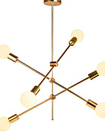 baratos -6-luz Sputnik Lustres Luz Ambiente Galvanizar Metal Ajustável 110-120V / 220-240V