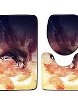 Недорогие -3 предмета Традиционный Коврики для ванны 100 г / м2 полиэфирный стреч-трикотаж Животное Прямоугольная Ванная комната Cool