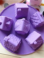Недорогие -Инструменты для выпечки Силиконовый гель Творческая кухня Гаджет Необычные гаджеты для кухни Прямоугольный Десертные инструменты 1шт