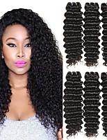 abordables -6 offres groupées Cheveux Indiens Bouclé profond Cheveux humains Tissages de cheveux humains / Bundle cheveux / One Pack Solution 8-28 pouce Naturel Couleur naturelle Tissages de cheveux humains