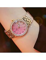 abordables -Femme Montre Bracelet Quartz Imitation de diamant Alliage Bande Analogique Mode Argent / Doré / Or Rose - Or Argent Or Rose / Acier Inoxydable