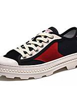 Недорогие -Муж. Комфортная обувь Полотно Осень Кеды Контрастных цветов Черный / Красный