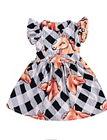 Недорогие -Дети Девочки Животное Без рукавов Платье