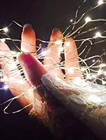 abordables -5m Guirlandes Lumineuses 50 LED Blanc Chaud Décorative Piles AA alimentées 1 set