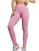 abordables -Femme Étrier Pantalon de yoga - Rose, Améthyste, Bleu Marine Des sports Couleur unie Leggings / Bas Danse, Gymnastique, Faire des exercices Tenues de Sport Respirable, Evacuation de l'humidité, Doux