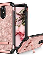 Недорогие -BENTOBEN Кейс для Назначение LG LG Stylo 4 Защита от удара / со стендом / Покрытие Кейс на заднюю панель Сияние и блеск Твердый Кожа PU / ТПУ / ПК для LG Stylo 4