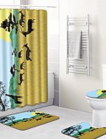 Недорогие -1 комплект Modern Коврики для ванны 100 г / м2 полиэфирный стреч-трикотаж Креатив Прямоугольная Ванная комната сгущение