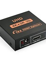 Недорогие -yongwei hdmi splitter 1 в 2 out hd powered splitter box v1.4 сертифицированный поддерживает 4kx2k 3d 1080p 1x2 порт для ПК ps3 ps4 xbox blue-ray dvd stb