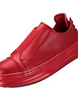 Недорогие -Муж. Комфортная обувь Полиуретан Осень Кеды Белый / Красный / Черно-белый