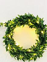 abordables -5m Guirlandes Lumineuses 10 LED Blanc Chaud Décorative Piles AA alimentées 1 set