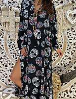 baratos -Mulheres Abaya Vestido - Estampado Longo