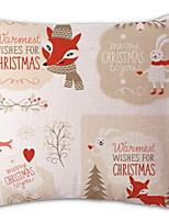Недорогие -Наволочка Новогодняя тематика / Праздник Квадратный Мультипликация Рождественские украшения