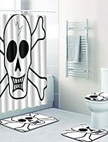 Недорогие -1 комплект Традиционный Коврики для ванны 100 г / м2 полиэфирный стреч-трикотаж Новинки Прямоугольная Ванная комната Cool