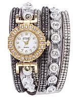Недорогие -Жен. Часы-браслет Кварцевый Повседневные часы PU Группа Аналоговый Мода Элегантный стиль Черный / Белый / Синий - Синий Розовый Светло-синий