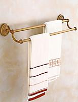 abordables -Barre porte-serviette Créatif Antique Laiton 1pc Barre à 2 tours Montage mural