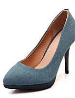 Недорогие -Жен. Комфортная обувь Полиуретан Весна Обувь на каблуках На шпильке Синий