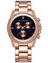 Недорогие -Жен. Наручные часы Кварцевый Cool Нержавеющая сталь Группа Аналоговый На каждый день Розовое золото - Розовое золото