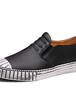 Недорогие -Муж. Комфортная обувь Кожа Осень Спортивные / На каждый день Кеды Массаж Черный / Коричневый / Синий