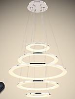 abordables -VALLKIN 5 lumières Circulaire Lustre Lumière d'ambiance Plaqué Finitions Peintes Métal Acrylique Ajustable, Intensité Réglable 110-120V / 220-240V Dimmable avec télécommande