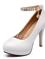 Недорогие -Жен. Комфортная обувь Полиуретан Весна Обувь на каблуках На шпильке Белый / Синий / Розовый