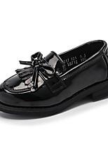 Недорогие -Девочки Обувь Полиуретан Весна & осень Удобная обувь Мокасины и Свитер Бант для Дети / Для подростков Черный / Вино
