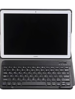 Недорогие -Кейс для Назначение Huawei MediaPad MediaPad M5 10 / Y5 II / Honor 5 с клавиатурой Чехол Однотонный Твердый Кожа PU для MediaPad M5 10