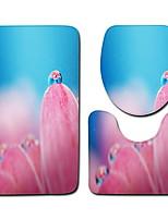 Недорогие -3 предмета Modern Коврики для ванны 100 г / м2 полиэфирный стреч-трикотаж Креатив Круглый / Прямоугольная Ванная комната Новый дизайн