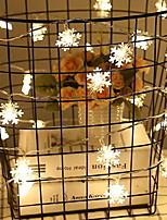billiga -10m Ljusslingor 100 lysdioder Varmvit Dekorativ 220-240 V 1set