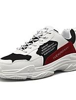 Недорогие -Муж. Клонистые кроссовки Полиуретан Наступила зима Спортивные / На каждый день Кеды Нескользкий Белый / Черный